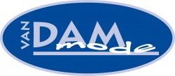 Logo van Dam Mode blauw